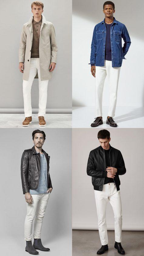 xu hướng thời trang denim trắng 2018